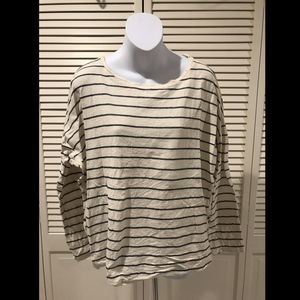 9-H15-S'CL by Anthropologie Ivory & Blue Striped L